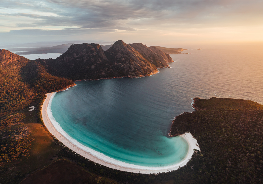 Wineglass Bay aerial